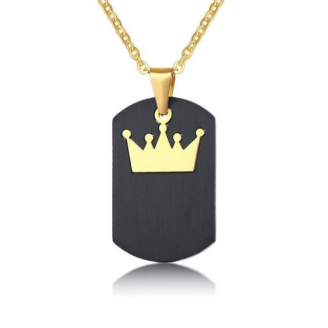 Customized Queen King Pendant Couples Necklace - Odacali Bracelets