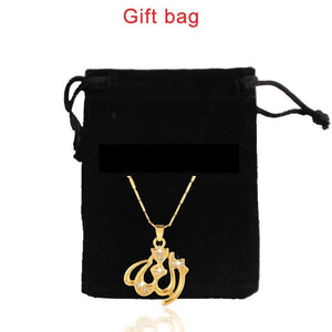 SONYA New Gold/Silver/Rose Gold Colors Arabic Islamic God Allah Pendant Necklace Muslim Women Charm Jewelry