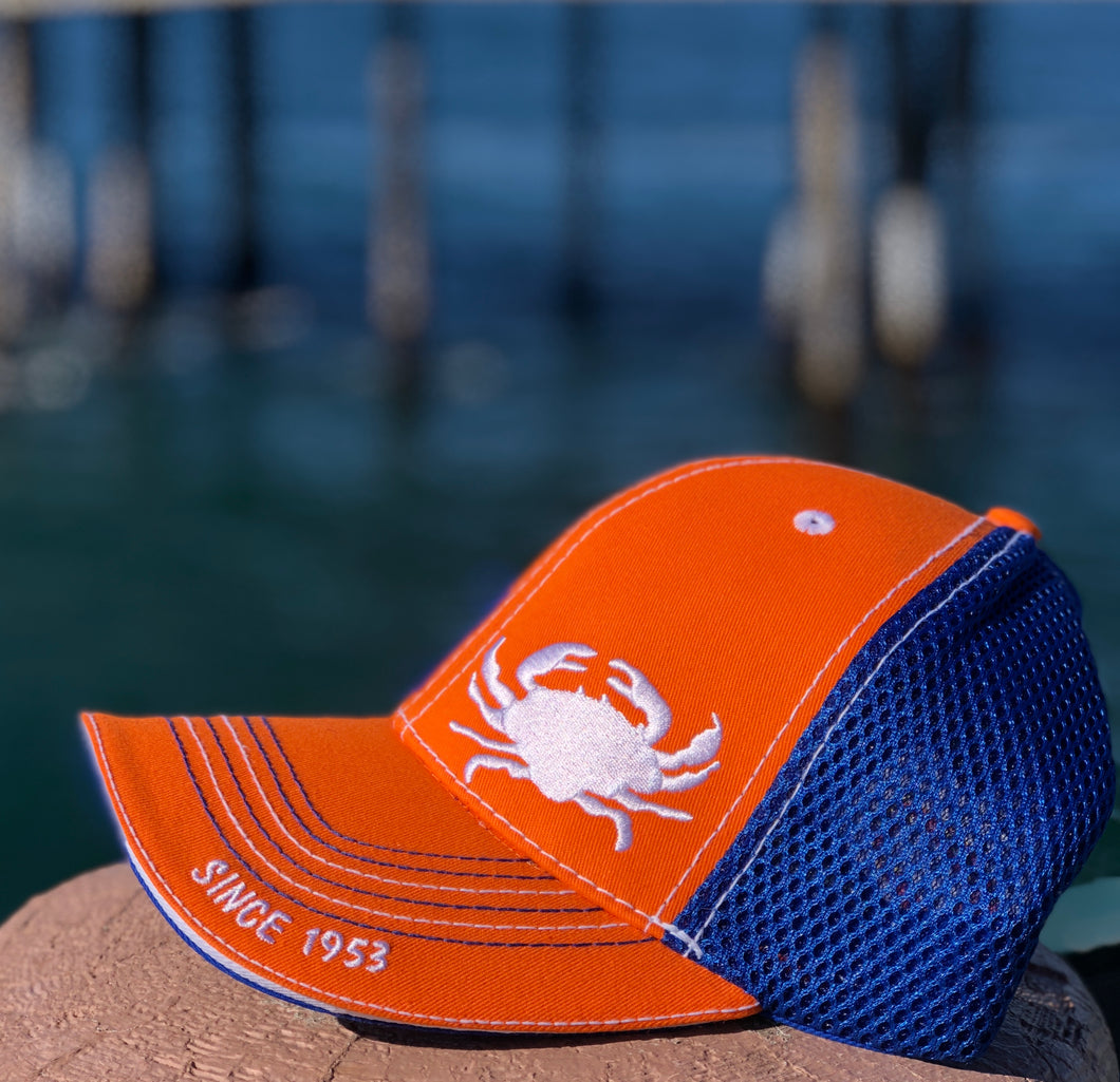 Orange/Blue Crab Hat