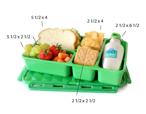go green lunchbox dimensions and capacity