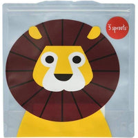 3 Sprouts Reusable Sandwich Bags 2 Pack Lion 3 Sprouts lunchbox