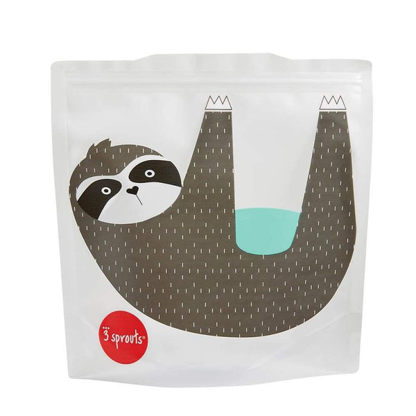 3 Sprouts Reusable Sandwich Bags 2 Pack Sloth 3 Sprouts lunchbox