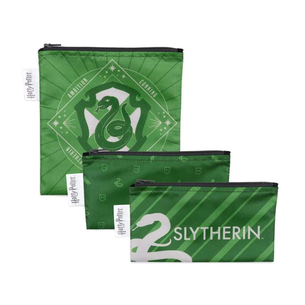 Bumkins Reusable Sandwich & Snack Bags 3-Pack: Slytherin™ Bumkins Reusable Snack Bags