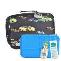 Go Green Lunchset Fast Flames BLUE Box Go Green lunchbox