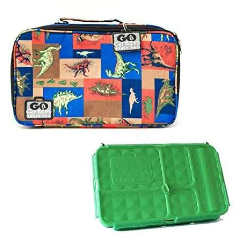 Go Green Lunchset Jurassic Party Green Box Go Green lunchbox