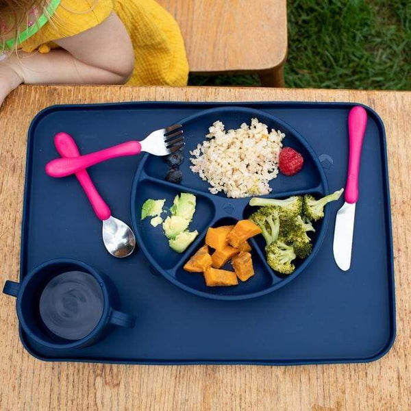 Green Sprouts Silicone Learning Plate Navy Green Sprouts Silicone Plate
