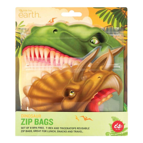 IS Gift Reusable Zip Lock Bags (Set of 8) - Dinosaurs IS Gift Reusable Bags