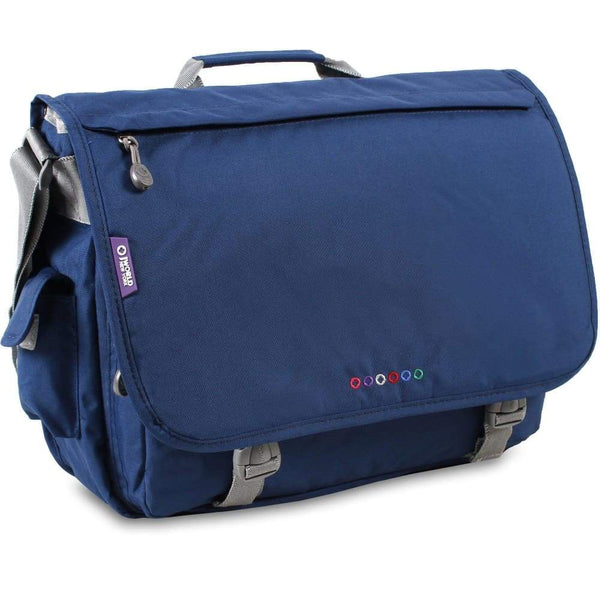 J World New York Laptop / Messenger Style Bag - Thomas Navy J World New York Laptop / Messenger Bag