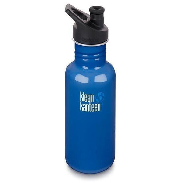 Klean Kanteen 18oz (532ml) Classic with Sport Cap 3.0 Coastal Blue Klean Kanteen Water Bottle
