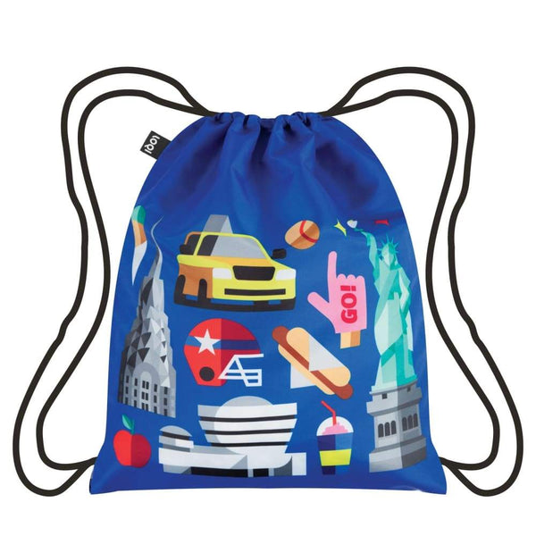 Loqi Backpack Hey Collection New York Loqi Drawstring Bag