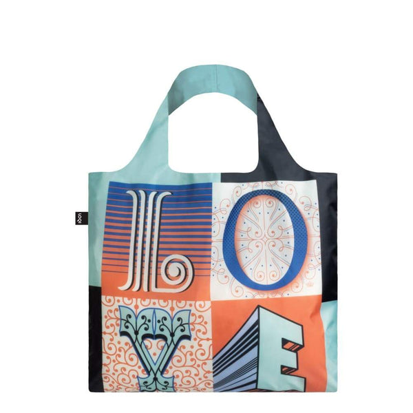 Loqi Reusable Shopping Bag Nartina Flor Collection - Love Default Loqi Reusable Shopping Bag