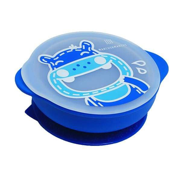 Marcus & Marcus Silicone Suction Bowl & Lid Blue Marcus & Marcus Silicone Bowl