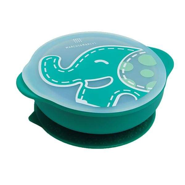 Marcus & Marcus Silicone Suction Bowl & Lid Green Marcus & Marcus Silicone Bowl