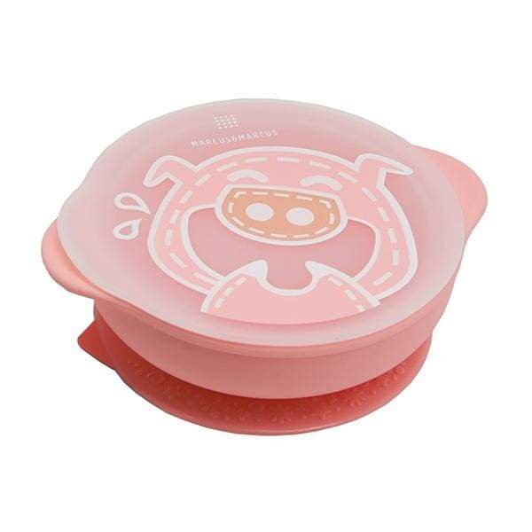 Marcus & Marcus Silicone Suction Bowl & Lid Pink Marcus & Marcus Silicone Bowl