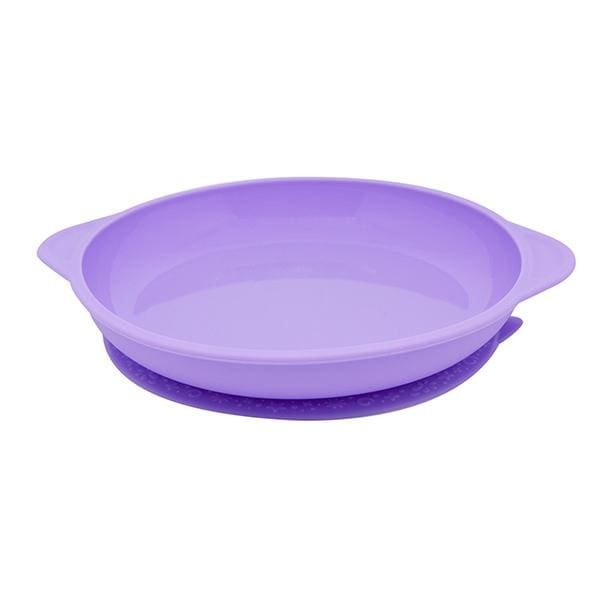 Marcus & Marcus Silicone Suction Plate Purple Yum Yum Kids Store Silicone Plate