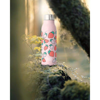 Monbento: Mb Genius Graphic Strawberry 500ml Monbento Stainless Steel Water Bottle