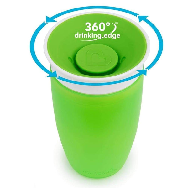 Munchkin Miracle 360 Trainer Cup 10oz Green Munchkin Cup
