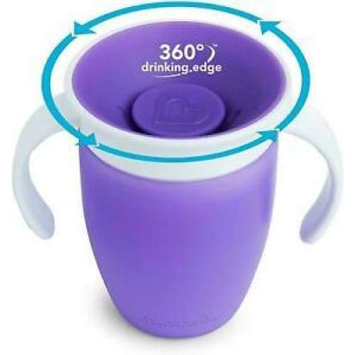 Munchkin Miracle 360 Trainer Cup 7oz Purple Munchkin Sippy Cup