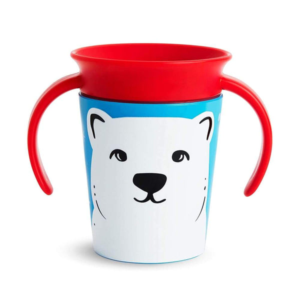 Munchkin Miracle 360 Trainer Cup 7oz Wildlife Polar Bear Munchkin Sippy Cup