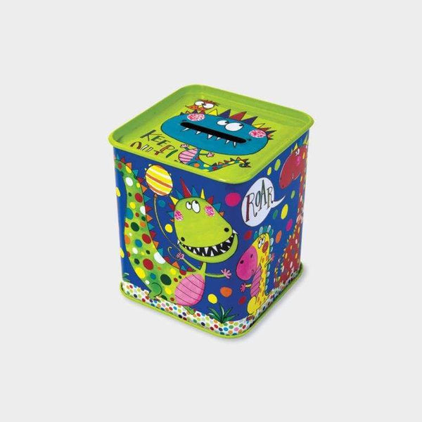 Rachel Ellen Money Box Tin Dinosaurs Keep Out! Default Rachel Ellen Money Box