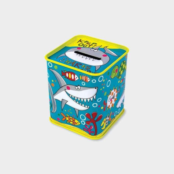 Rachel Ellen Money Box Tin Sharks About Keep Out! Default Rachel Ellen Money Box