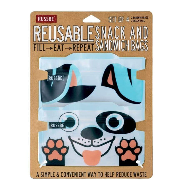 Russbe Reusable Sandwich / Snack Bags 4 pack Dog Russbe Reusable Snack Bags