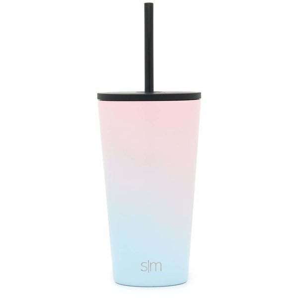 Simple Modern (16oz) 470ml Classic Travel Mug & Tumbler with 2 Lids: Straw and Flip - Sweet Taffy Simple Modern Tumbler