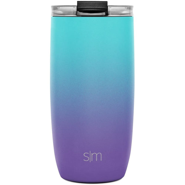 Simple Modern 470ml Voyager Travel Mug with Clear Lid & Straw - Tropical Seas Simple Modern Tumbler