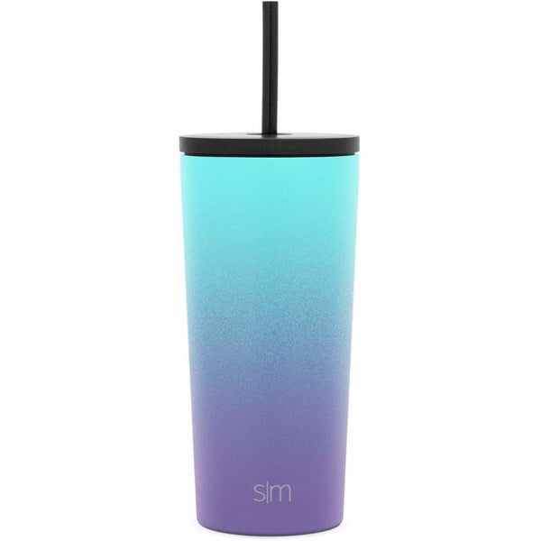 Simple Modern 590ml Classic Travel Mug & Tumbler with 2 Lids: Straw and Flip - Tropical Seas Simple Modern Tumbler