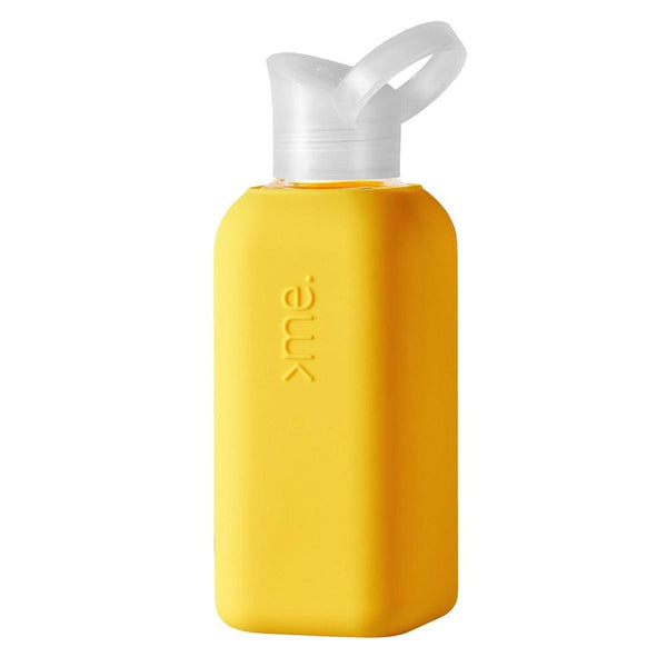 Squireme Chromatic Collection Glass Bottle 500ml Yellow Squireme Water Bottle