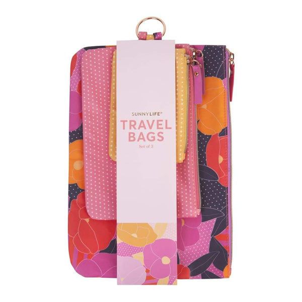 Sunnylife Travel Bags Set of 3 Sunnylife Pouches