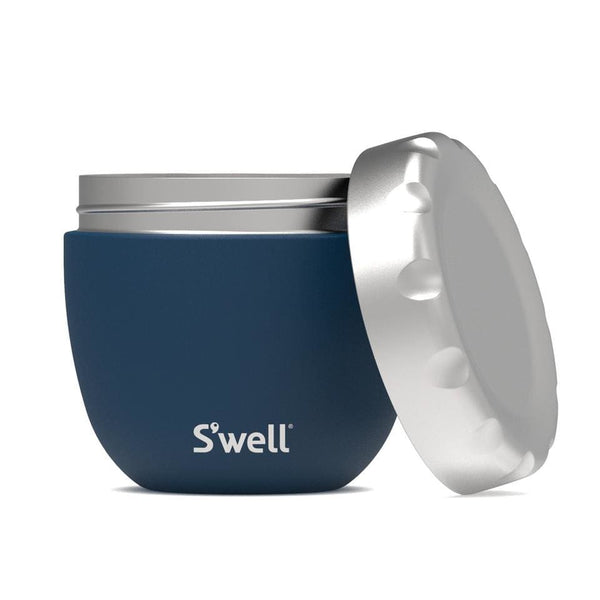 S'well Eats 2 in 1 Food Bowl Set Azurite 21.5 oz (620ml) S'well Insulated Food Flask