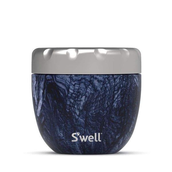 S'well Eats 2 in 1 Food Bowl Set Azurite Marble 21.5 oz (620ml) S'well Insulated Food Flask
