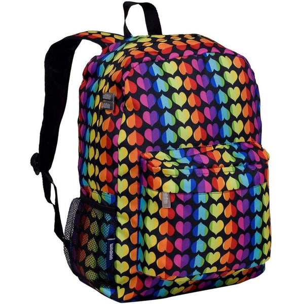 Wildkin Crackerjack Backpack - Rainbow Hearts Wildkin Backpack