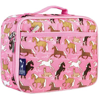 Wildkin Insulated Kids Lunchbox Pink Horses Wildkin Insulated Lunchbag