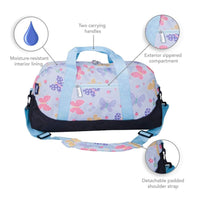 Wildkin Overnight Duffle Bag Butterfly Garden Wildkin Duffle Bag