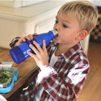 Yumbox Aqua Insulated Water Bottle Ocean Blue 420ml Yumbox Stainless Steel Water Bottle