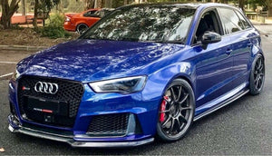 Audi RS3 Style Front Bumper with Lip for A3/S3 8V5 2015-2018 - JGMODS