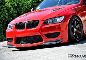 E92 Amuse Style Front Bumper with Carbon Fiber Front Splitters 2007-2010 BMW 328i 335i - JGMODS