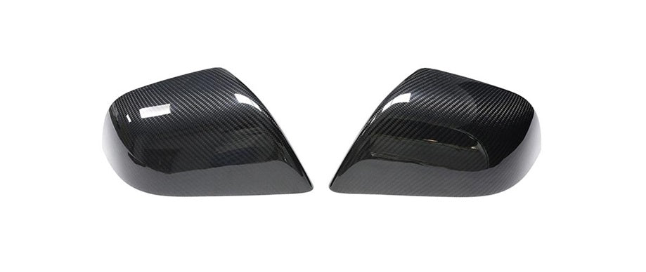 Gloss Carbon Fiber Mirror Cap Covers Tesla Model 3 - JGMODS
