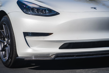 MX Style Carbon Fiber Front Lip - Tesla Model 3