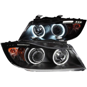 ANZO E90 Projector Headlights w/ Halo w/ LED Blackout Version