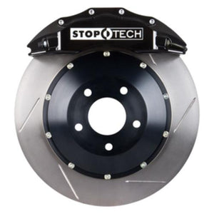 StopTech Front Big Brake Kit Black Calipers Slotted Two Piece Rotors - 08-13 E9X M3 - JGMODS