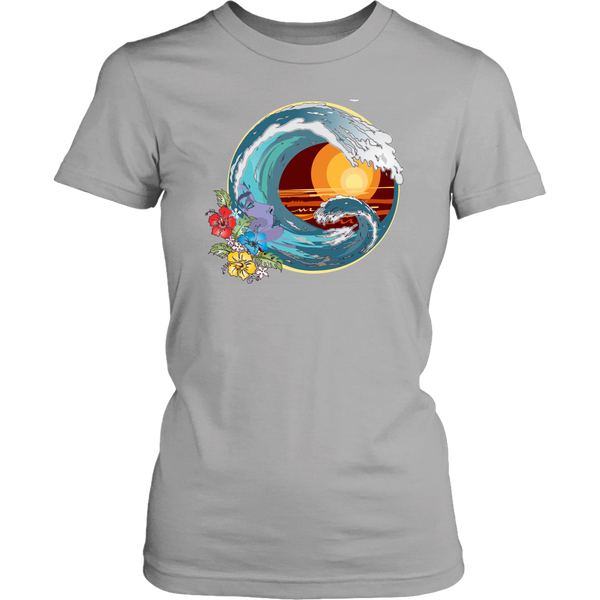 Unique design, first of the Abangar Brand is very nice t-shirt with wave, face and flowers