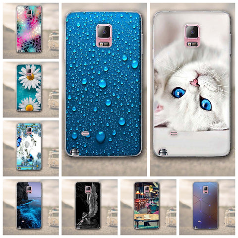 Silicon phone back cover, various models, for Samsung Galaxy Note4 N9100. SALAN_A001