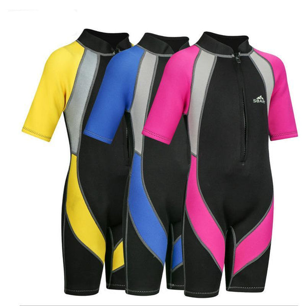 Cute neoprene Wetsuit for teenagers 2-12 years, very comfortable and in various colors