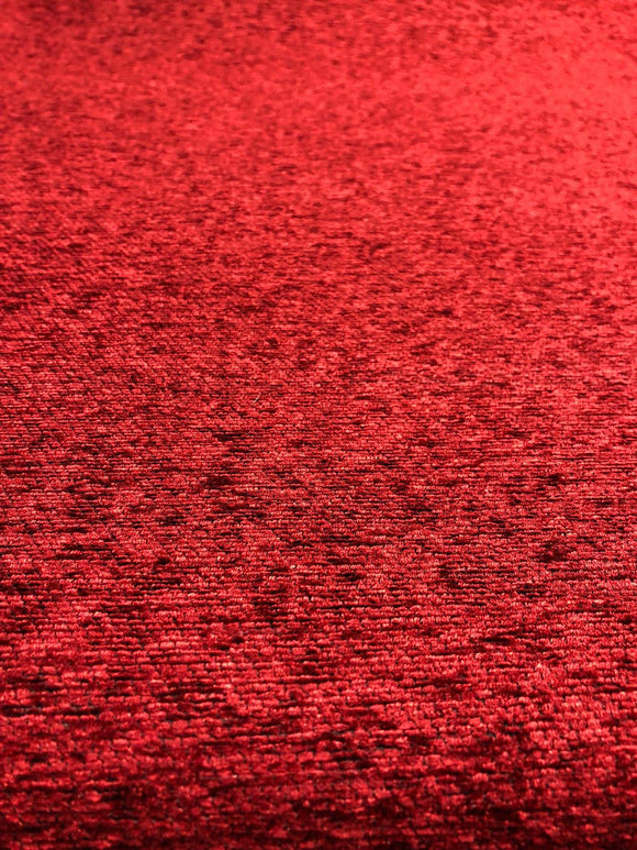 Ruby Red Chenille Upholstery fabric By The Yard chair couch pillow