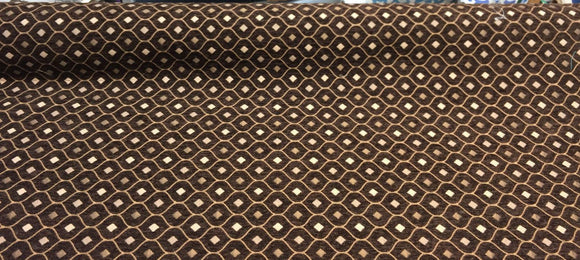 Mercedes Brown Damask Fabric Chenille upholstery fabric by the yard sofa couch
