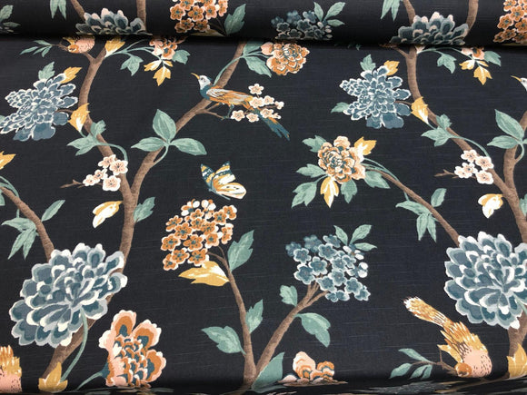 Dwell Studio Robert Allen Helene Floral Admiral Fabric By The Yard