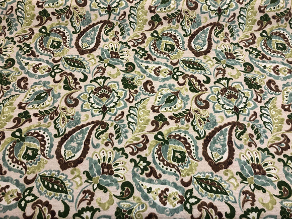 Bryant lafayette Parsley Indoor / Outdoor Fabric By the yard